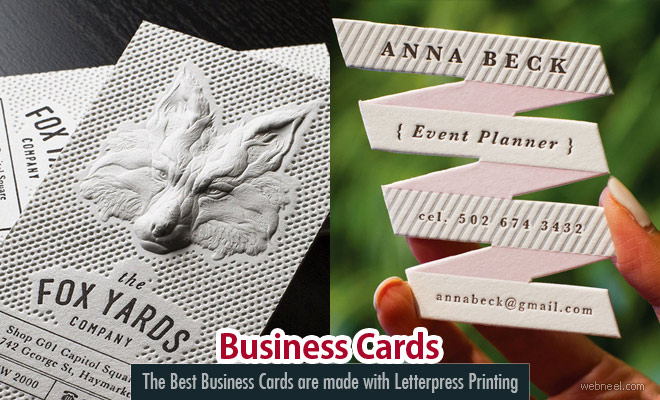 The Best Business Cards are made with Letterpress Printing