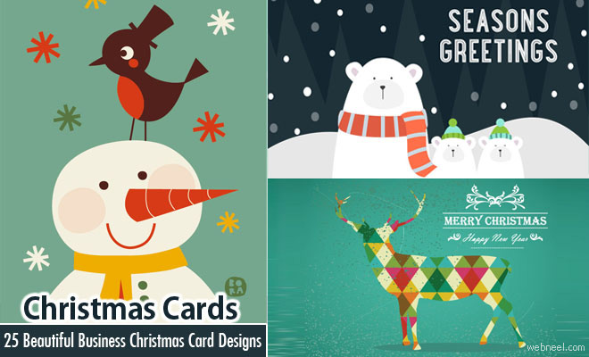 25 beautiful business christmas cards designs for your inspiration business christmas cards m4hsunfo