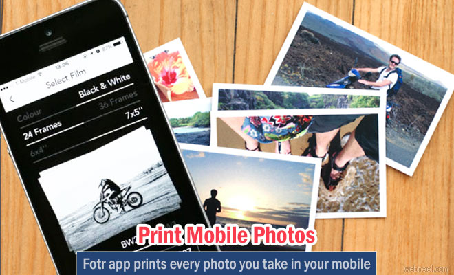 Fotr app prints every photo you take in your IOS phones