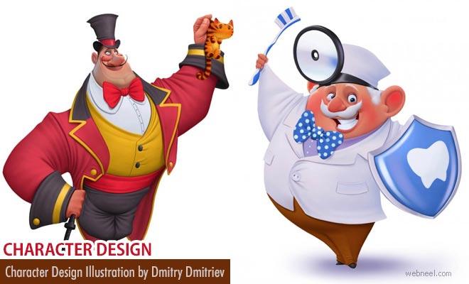 Creative Japanese Character Designs by russian artist Dmitry Dmitriev