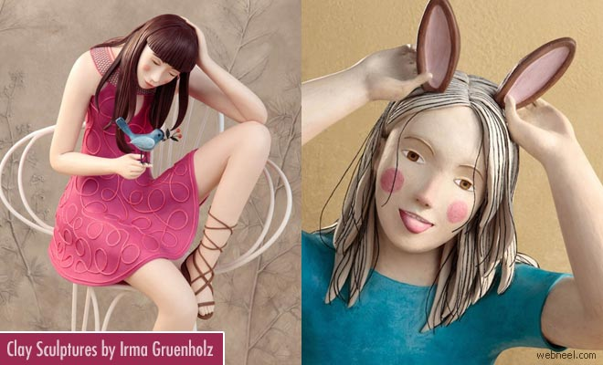 20 Beautiful and Realistic Clay Sculptures by Irma Gruenholz