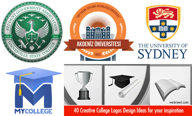 40 Creative College Logos Design Ideas for your inspiration