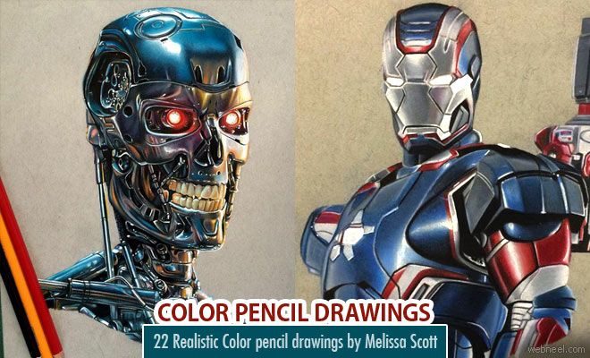 25 Beautiful and Realistic Color Pencil Drawings by Melissa Scott
