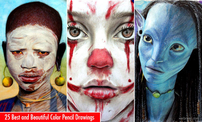 50 beautiful color pencil drawings from top artists around the world - Color Drawings