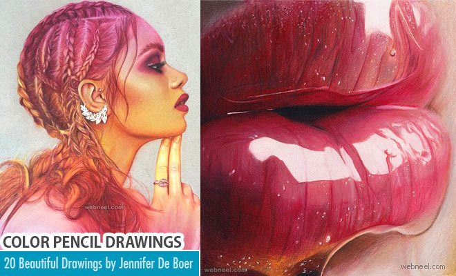20 Beautiful Color Pencil Drawings by Jennifer De Boer