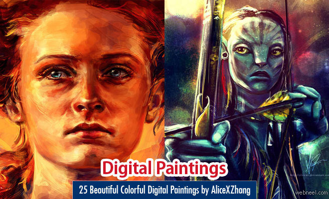 25 Beautiful Colorful Digital Paintings and Illustrations by AliceXZhang