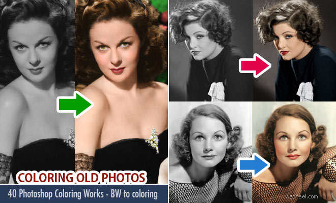 40 photoshop coloring works colorize old black and white photos