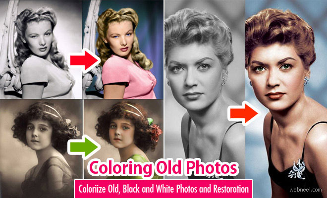 40 Photoshop Coloring Works - Colorize old black and white photos - part 1