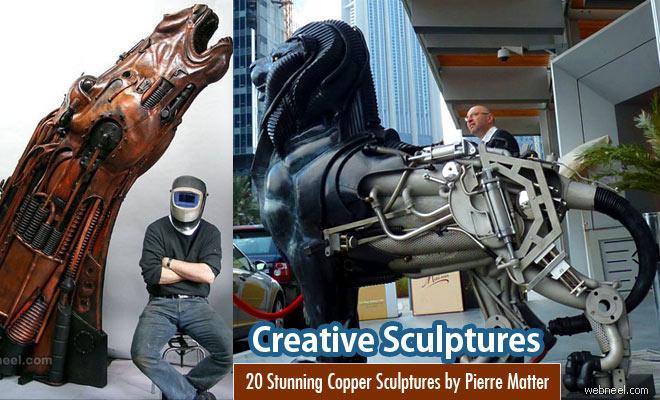 20 Stunning Copper Wall Art Sculptures by Pierre Matter
