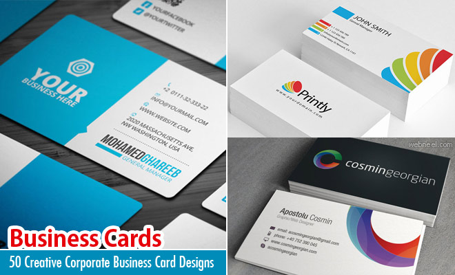 50 creative corporate business card design examples design inspiration corporate business cards reheart Images