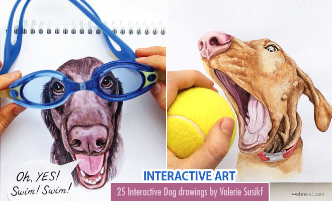 25 Stunning and Interactive Dog illustrations by Valerie Susikf