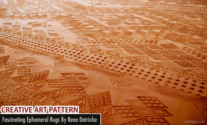 Artist Creates fascinating ephemeral rugs from Oklahoma red earth by Rena Detrixhe