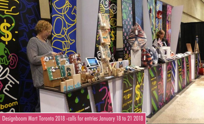Canada Designboom Mart 2018 - Design Fair | entries by Jan 2018
