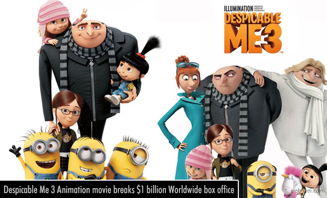 Despicable Me 3 Animation movie breaks $1 billion Worldwide box office