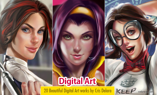 50 Stunning Digital Paintings and Comic Art works by Cris Delara