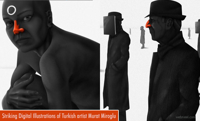 Striking Digital Art and Illustrations by Turkish artist Murat Miroglu