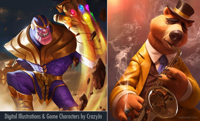 15 Spectacular Digital Illustrations and Game Character designs by CrazyJn