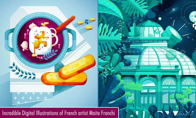 Incredible Digital Illustrations by French artist Maite Franchi