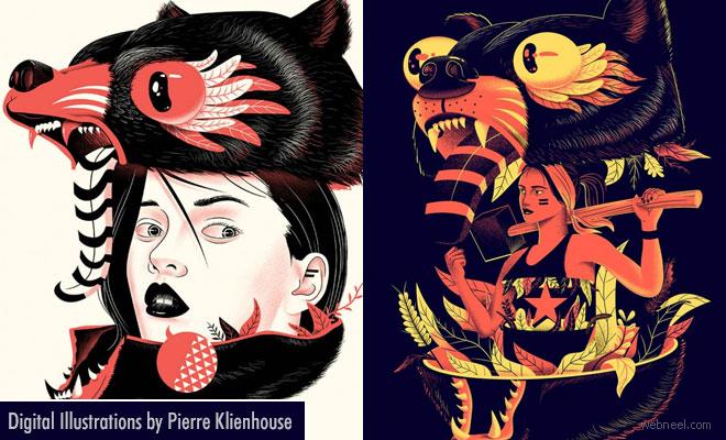 Swanky Digital Illustrations and Artworks by Pierre Klienhouse