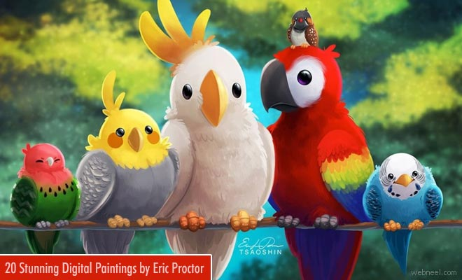 20 Stunning and colorful Digital Paintings of Eric Proctor