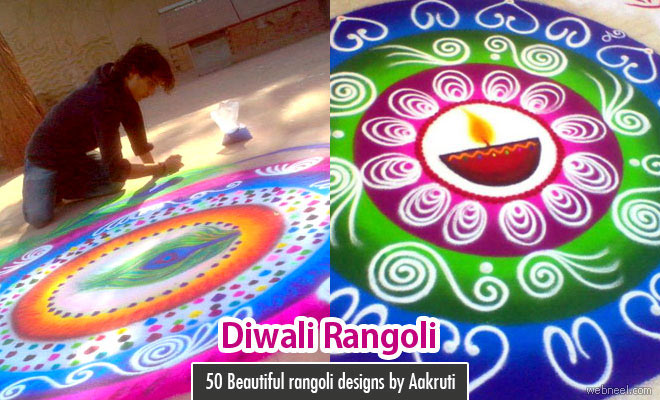 40 Best and Easy Rangoli Designs for Diwali Festival - part 2