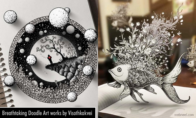 Breathtaking Doodle Art works by USA artist Visothkakvei