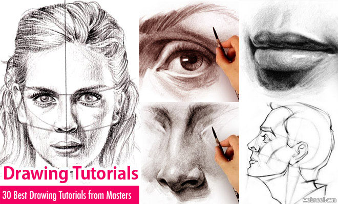 30 best drawing tutorials learn drawing techniques from for Good drawing tutorials for beginners