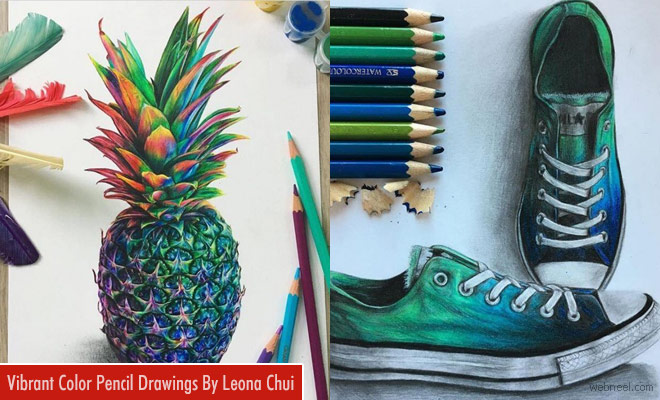 Realistic and Vibrant Color Pencil Drawings By Leona Chui