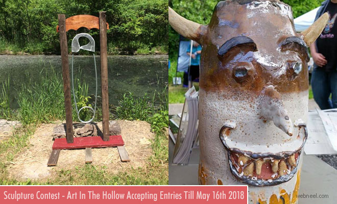 Art in The Hollow Outdoor Sculpture Contest - Minnesota USA - May 16