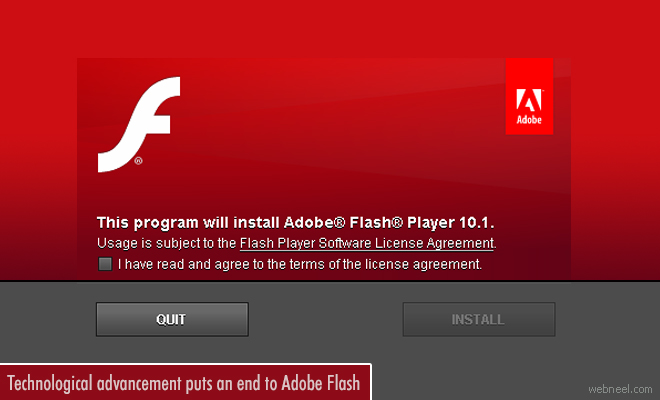 Technological advancement puts an end to Adobe Flash