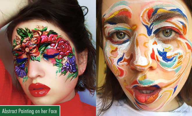 Vancouver Based Makeup Artist Uses her Face as a Canvas for Abstract Face Painting