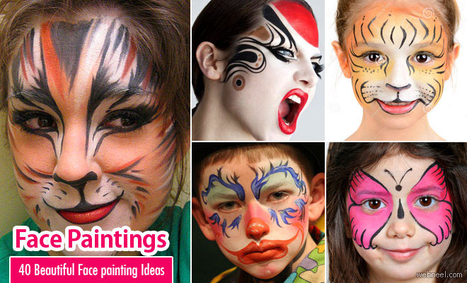 Part 2 - 40 Beautiful Face painting Ideas for your inspiration