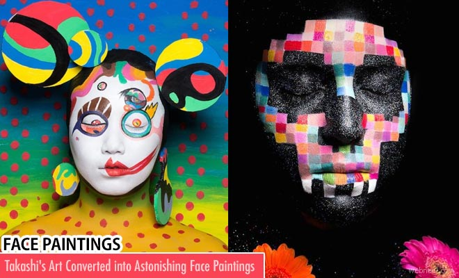 Takashi Murakami Art converted into astonishing Face Paintings