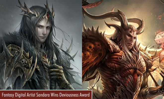 Fantasy digital artist Sandara Wins Deviousness Award June 2017
