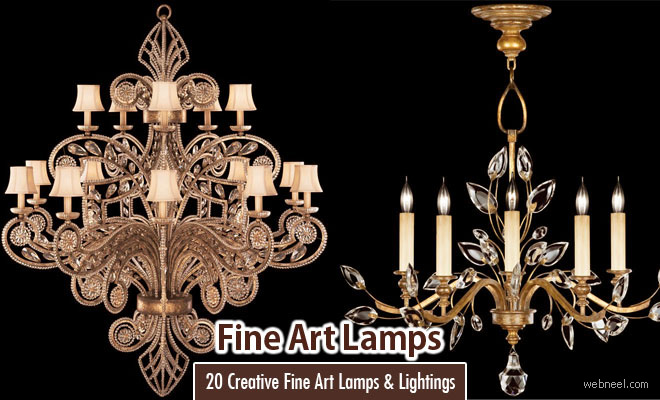 20 Creative Fine Art Lamps and Fine Art Lightings decorations