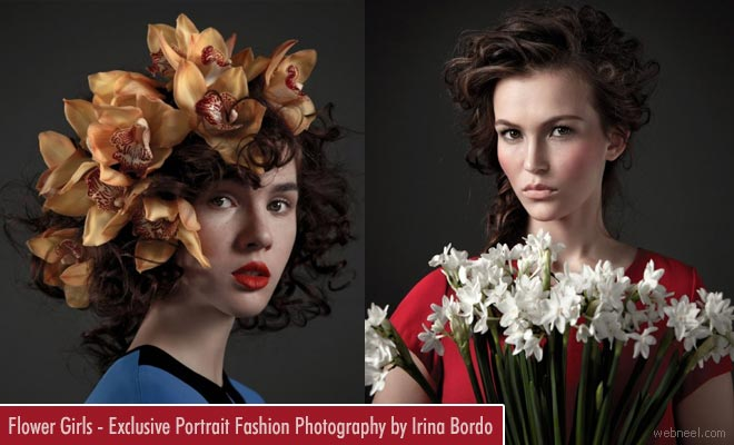 Flower Girls - Exclusive portrait Fashion Photography by Irina Bordo