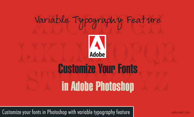 Customize your fonts in Photoshop with Variable Typography feature