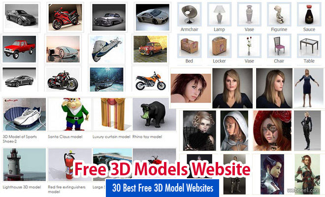 30 Best Free 3D Model Websites around the web- Free 3D Download Sites