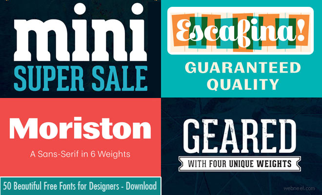 50 Professional Free Fonts for Designers - Download Now