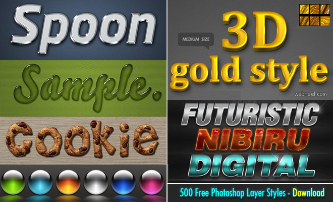 Ultimate Collection of 500 Free Photoshop Layer Styles - Part 2
