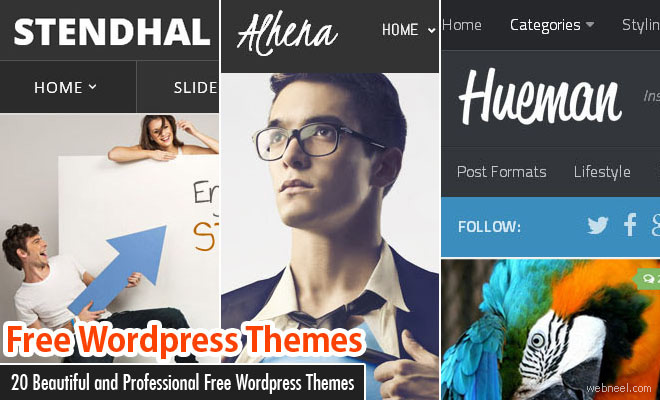 20 Beautiful and Professional Free Wordpress Themes for your inspiration