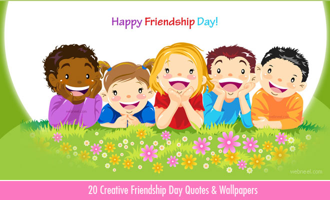 20 Creative Friendship Day Quotes and Wallpapers 2018