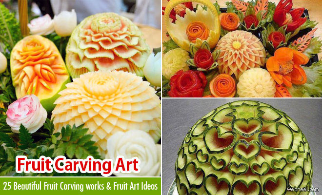 Beautiful vegetable carving and fruit works for