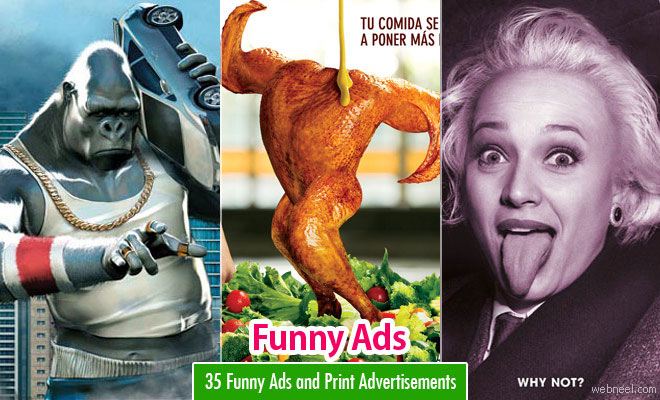 35 Funny Ads and Print Advertisements for your inspiration