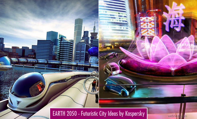 Earth 2050 - Futuristic City Design Ideas by Kaspersky Lab