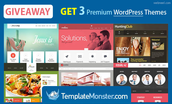 Giveaway: 3 WordPress Themes from TemplateMonster