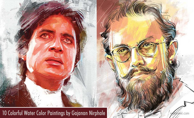 10 Beautiful Celebrity Portrait Paintings by Indian artist Gajanan Nirphale