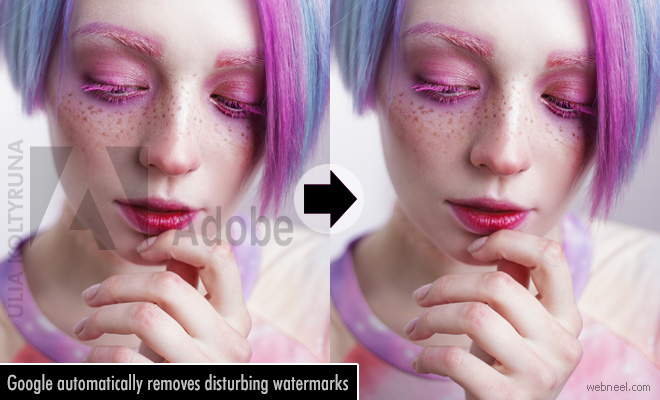 Google algorithm automatically removes disturbing watermarks from stock photos