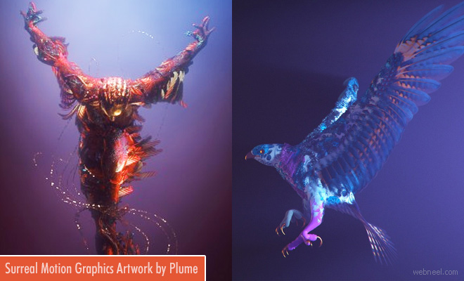 Woman Transforms into Bird - Surreal Motion Graphic Artworks by FutureDeluxe