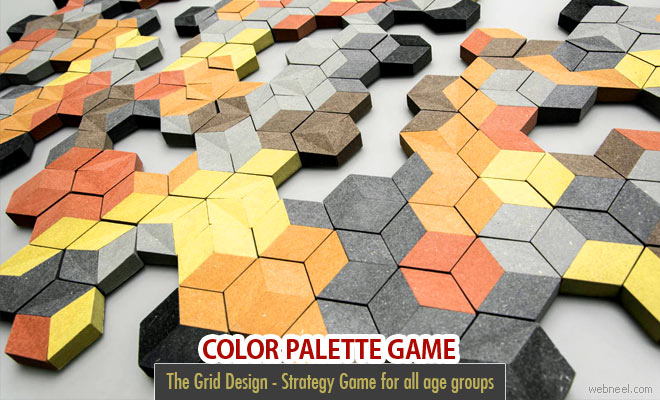 Colorful Grid Game using Color Palette by Estudio Victor Aleman